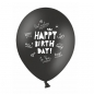 Preview: ballons-6-happy-birthday-best-wishes-schwarz-weiss-1