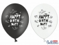 Preview: ballons-6-happy-birthday-best-wishes-schwarz-weiss
