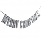 Preview: Girlande Holz Merry Christmas - Christmas Metallic - silber