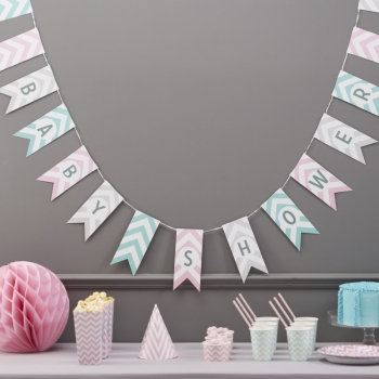 Girlande Baby Shower - Chevron Divine