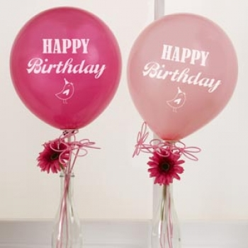 Ballons 8er Pack Happy Birthday - rosa/pink