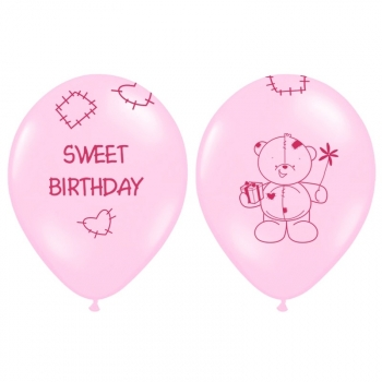 Ballons 6er Set Sweet Birthday - pink