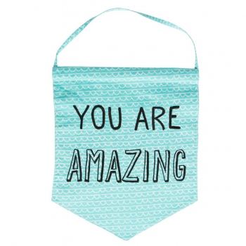 Banner You Are Amazing - schwarz/blau