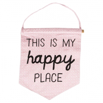 Banner This Is My Happy Place - schwarz/rosa