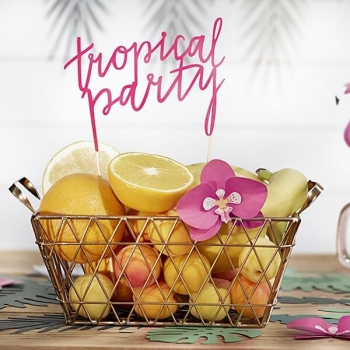 Cake Topper Tropical Party - pink