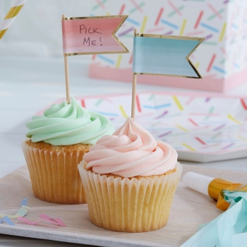 Cupcake Sticks Ombre Pick & Mix - rosa/mint