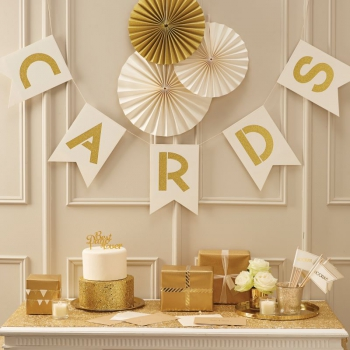 Girlande Cards Metallic Perfection - gold/ivory