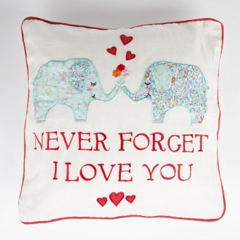 Kissen Elefanten - Never Forget I Love You