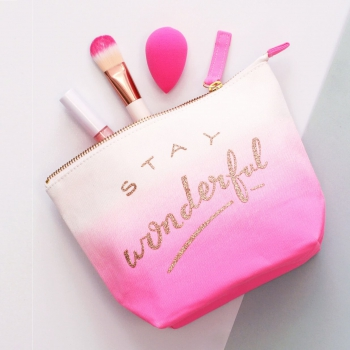 Kulturtasche Stay Wonderful - pink ombre