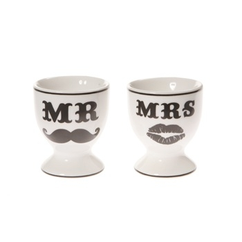 Eierbecher-Set Mr & Mrs
