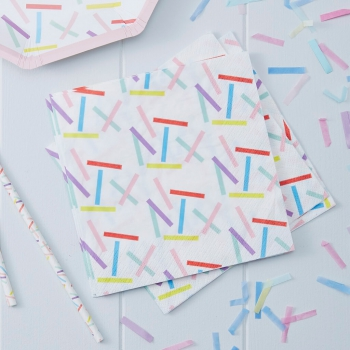 Papierservietten Pick And Mix Sprinkles - bunt