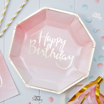 Party Teller Pick And Mix Happy Birthday - gold/pink/ombre