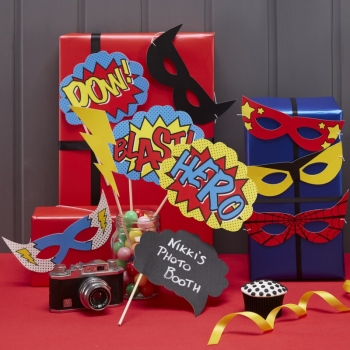 Photo Booth Set - Superhero
