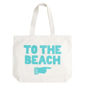 Strandtasche To The Beach - türkis