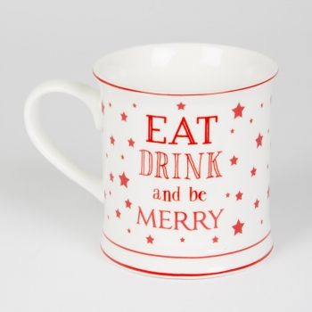 Tasse Weihnachten - Eat drink and be merry