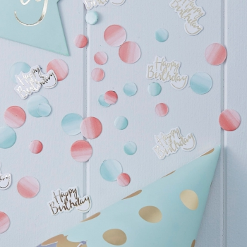 Tischkonfetti Happy Birthday Ombre Pick And Mix - gold/blau/rot
