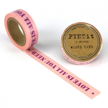 Washi Masking Tape Love Is All You Need - lila/rosa