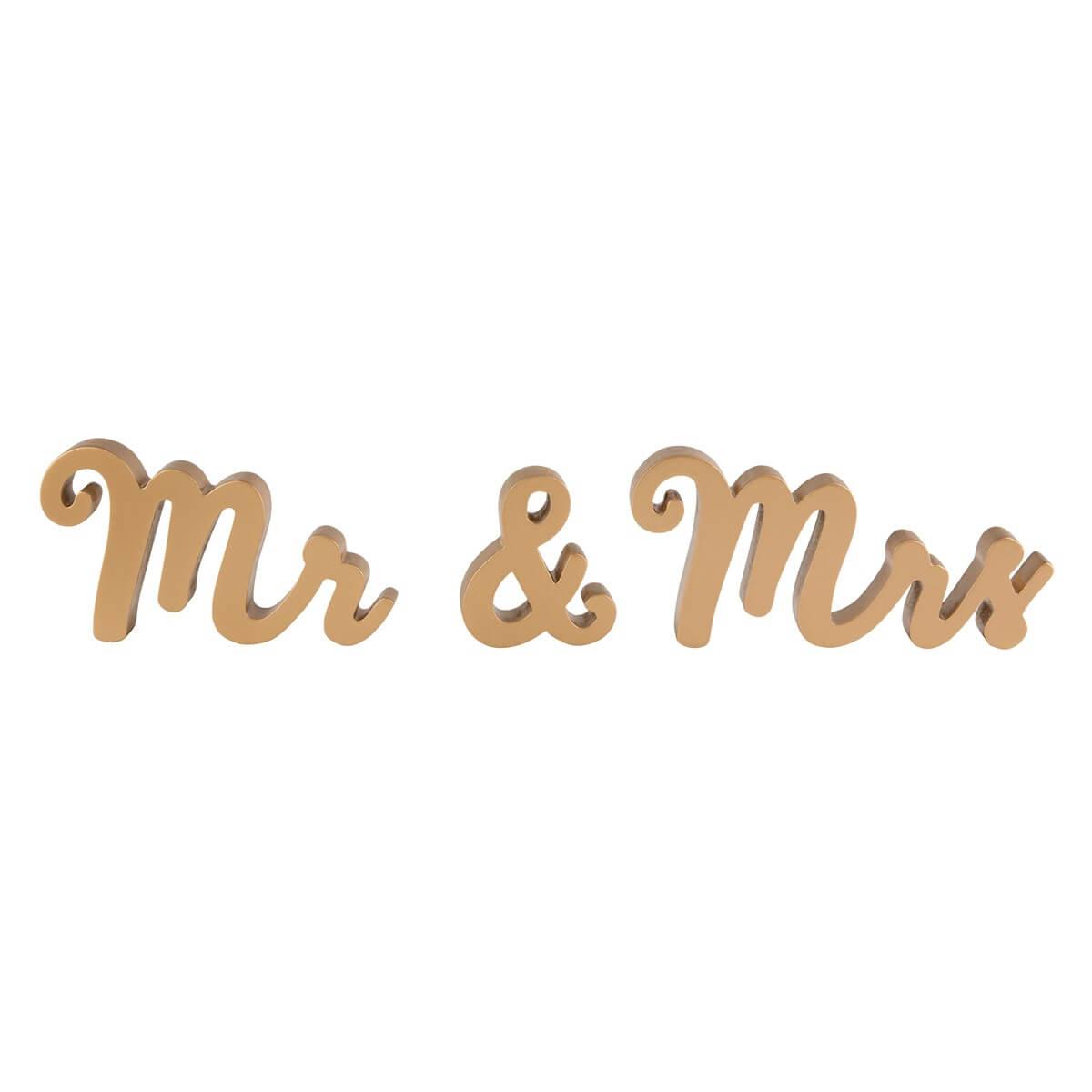 dekofieber online shop buchstaben mr mrs gold. Black Bedroom Furniture Sets. Home Design Ideas