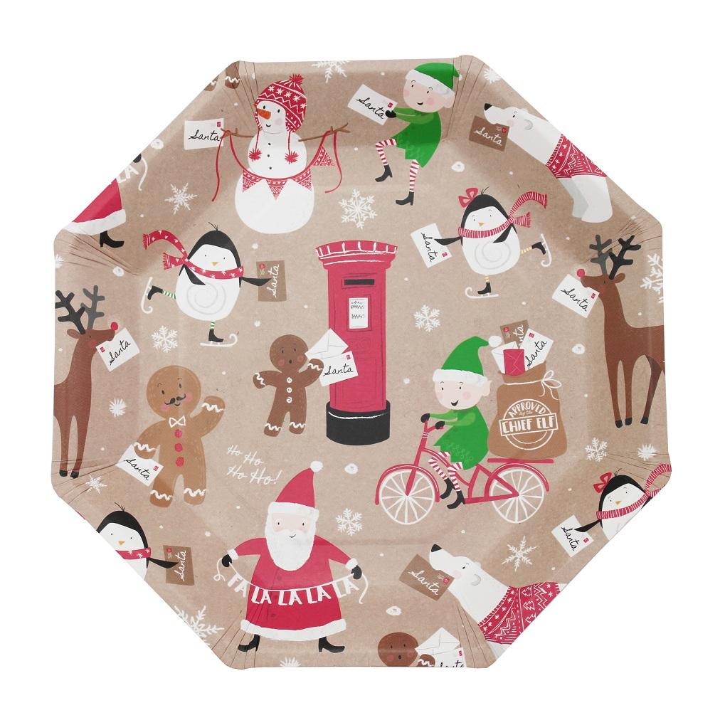 dekofieber online shop party teller weihnachten santa. Black Bedroom Furniture Sets. Home Design Ideas