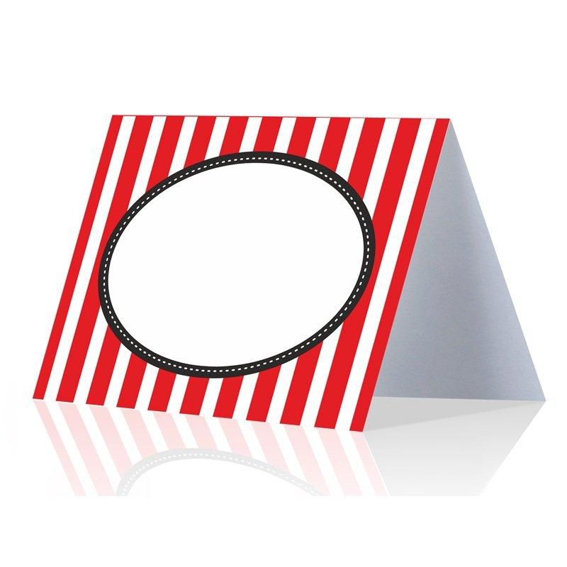 Dekofieber online shop platzkarten herz rot wei for Tischdeko rot schwarz