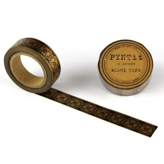 washi masking tape damask bronze schwarz. Black Bedroom Furniture Sets. Home Design Ideas