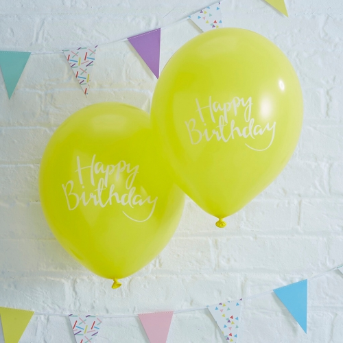 ballons-happy-birthday-gelb