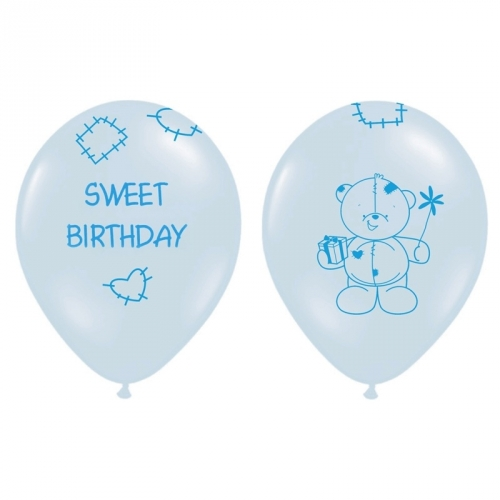 Ballons 6er Set Sweet Birthday - blau