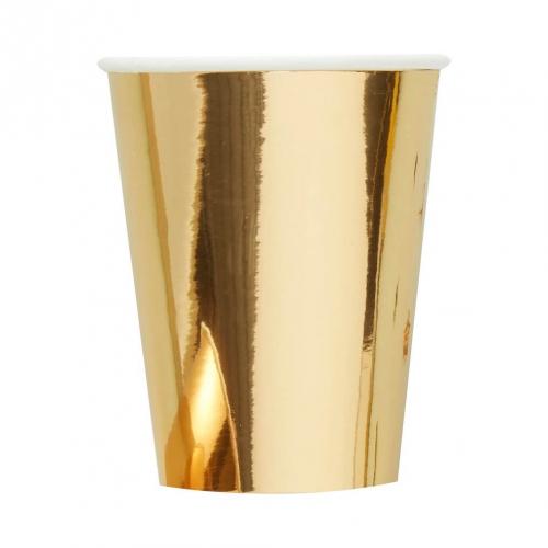 dekofieber online shop party becher metallic star gold. Black Bedroom Furniture Sets. Home Design Ideas