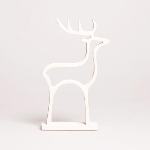 dekofieber online shop rentier weihnachtsdeko wei. Black Bedroom Furniture Sets. Home Design Ideas