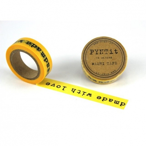 dekofieber online shop washi masking tape handmade with love schwarz gelb. Black Bedroom Furniture Sets. Home Design Ideas