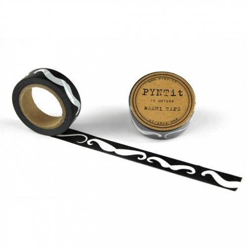 washi masking tape moustache wei schwarz. Black Bedroom Furniture Sets. Home Design Ideas