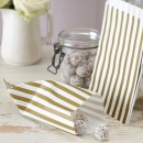 Candy Bags 25er - gold/ivory